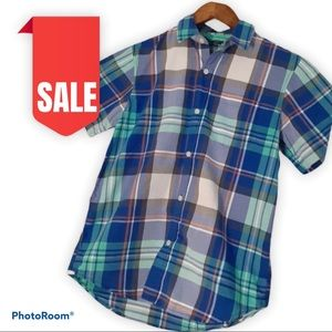 🎈2 for $15  Boys short sleeve button down size 10